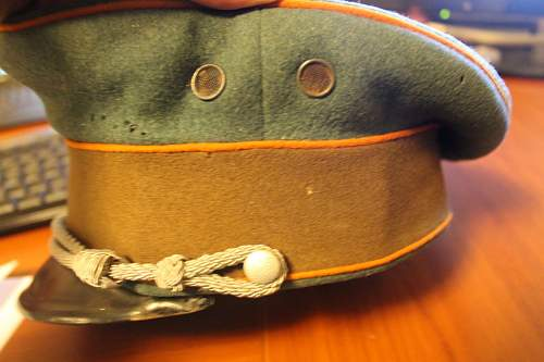 Police office visor Green and brown