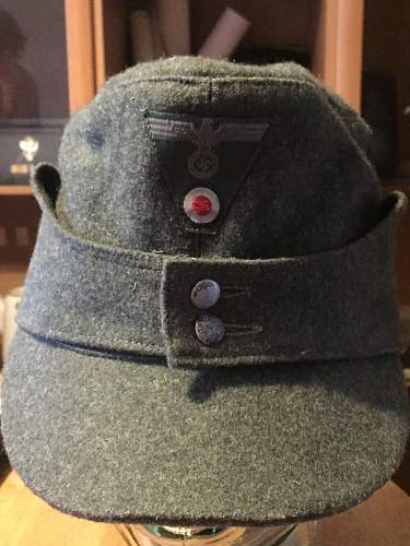 WW2 German M43 wool field cap Comfortable?