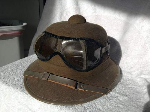 Real pith helmet?