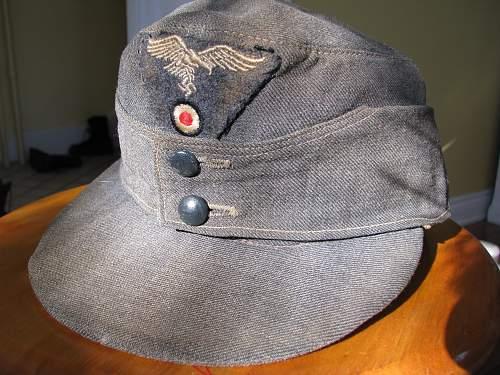 Luftwaffe M43 Cap Hermann Goring?