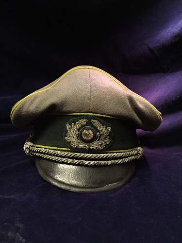 Officer Army WH Visor Hat Cap