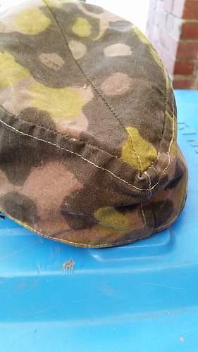 Waffen SS camo field cap authenticity.