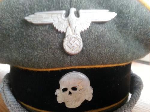 SS Nachrichtentruppe schirmmutze - for review