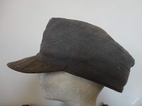 Luftwaffe drillich field made cap - ask for help