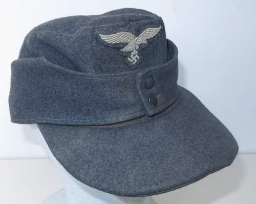Click image for larger version.  Name:Reproduction Luftwaffe M43 OR's cap 001.jpg Views:102 Size:153.2 KB ID:845715