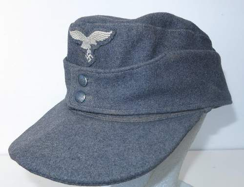 Click image for larger version.  Name:Reproduction Luftwaffe M43 OR's cap 002.jpg Views:69 Size:164.5 KB ID:845716