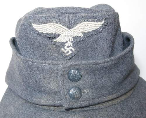 Click image for larger version.  Name:Reproduction Luftwaffe M43 OR's cap 003.jpg Views:25 Size:174.1 KB ID:845717