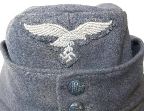 Click image for larger version.  Name:Reproduction Luftwaffe M43 OR's cap 004.jpg Views:75 Size:187.3 KB ID:845718