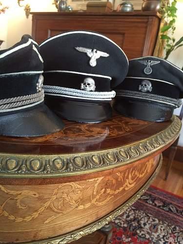 Black SS officer cap, fake