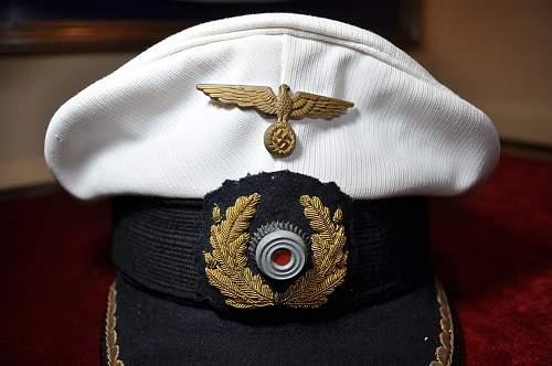 Kriegsmarine junior officer cap