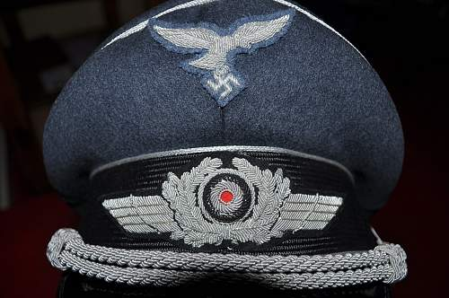 Luftwaffe double Erel visor cap authentication required please