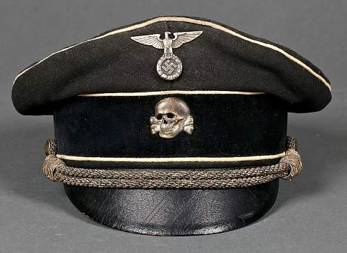 Early Insignia Black SS Officer Visor - ask for help