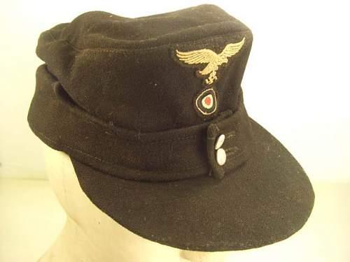 Black Luftwafe Einheitsfeldmutze