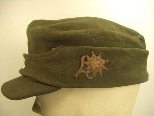 real or fake German Mt. Troop M-43 Cap, Wehrmacht