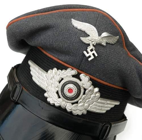 Luftwaffe Signals Visor Cap - Eagle?