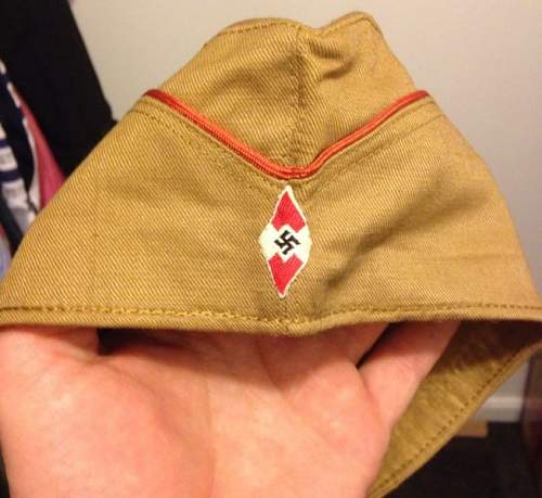 MINT Hitler Youth / German WW2 side Cap for sale