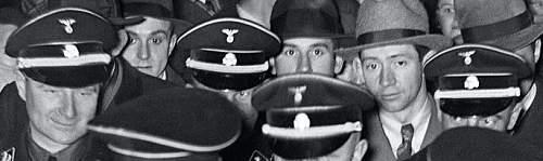 Black SS officer visor named