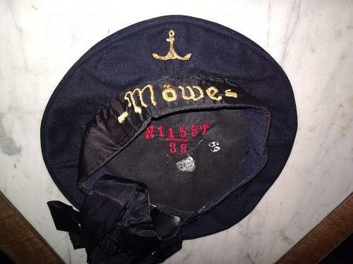 Modified WWII sailor cap?