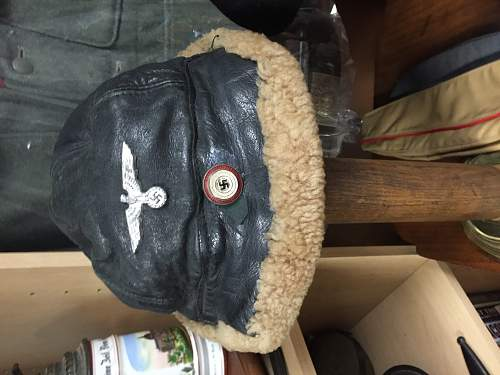 Fur and leather hat