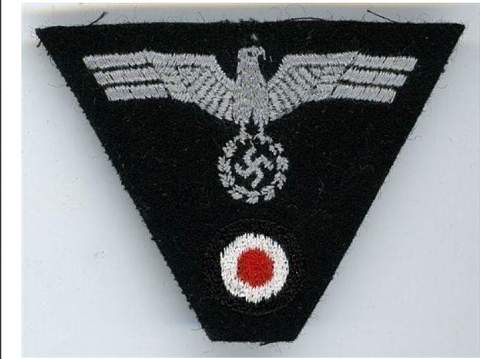 Embroidered panzer trapazoid