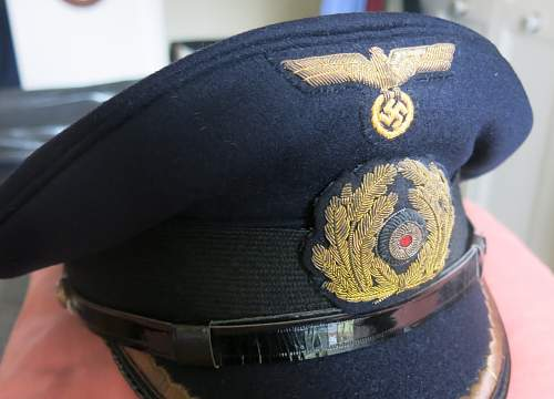 KM officer blue tops, including an admirals visor....