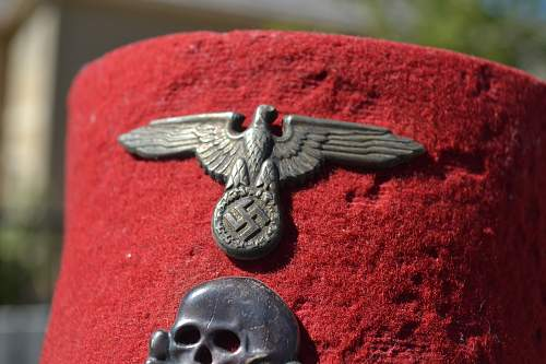 SS-Waffen Fez with Metal Insignia?