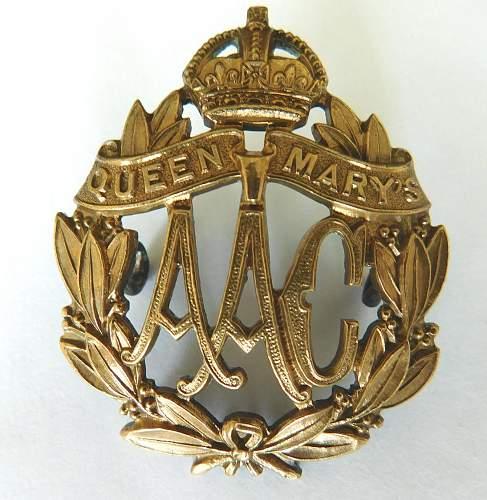 Womens services cap badges