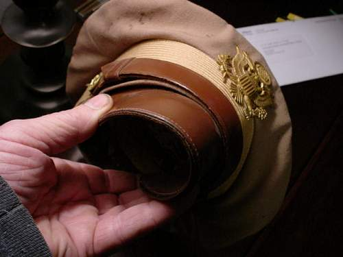 WW2 crusher cap and navy cap from high school theater wardrobe