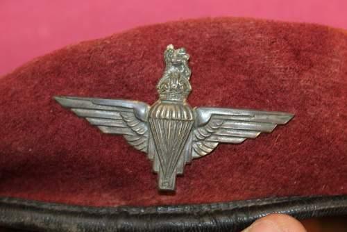 WW2 fake Britsh Para beret ?