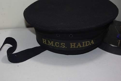 "HMCS Haida Tribal Class Destroyer Naval ""Donald Duck Hat"""