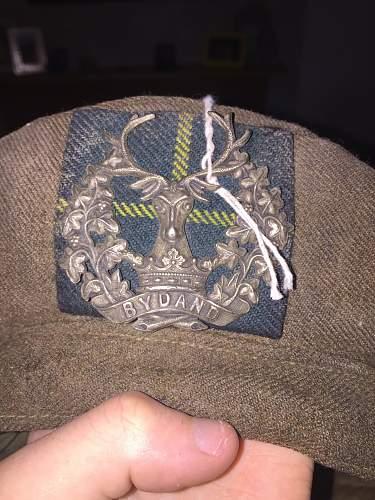 WW2 Gordon Highlanders Tam o Shanter Queries