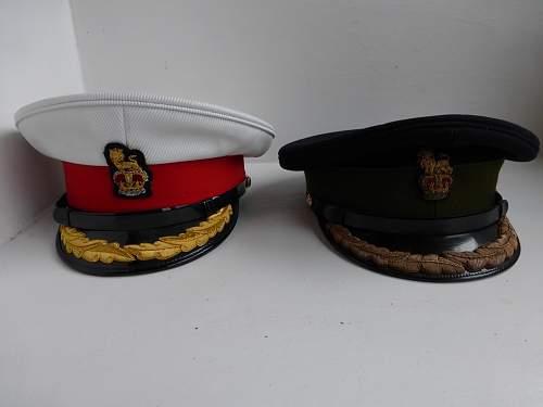 Two British hats, post war.