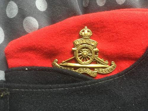 royal artillery side cap not sure of era