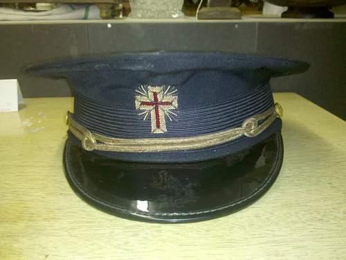 Strange peaked visor.... no clue what it is.