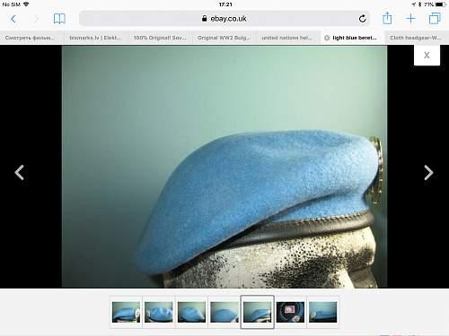 UN light blue beret???