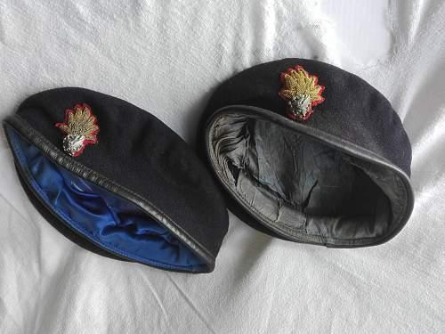 RWF officer berets