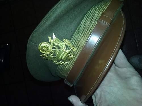 WW2 US Army Lt. Col Visor cap
