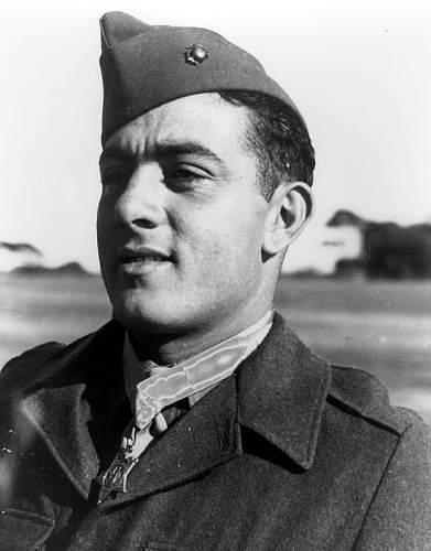 Salty WW II U.S. Marine corps enlisted mans overseas cap