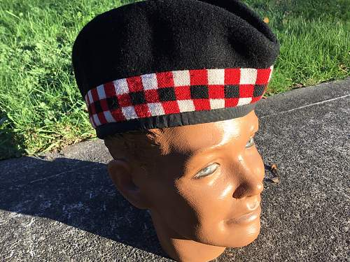 Canadian Highlander Glengarry and beret found today