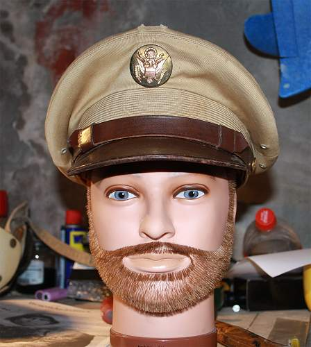 US Enlisted summer service cap