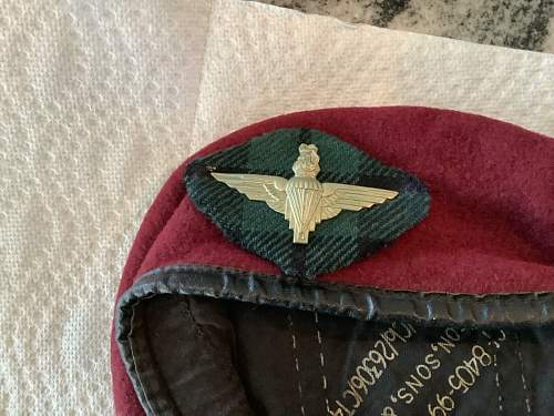 Alleged Scottish Para Beret - Correct Beret, Strange Tartan and Possible Fake Badge