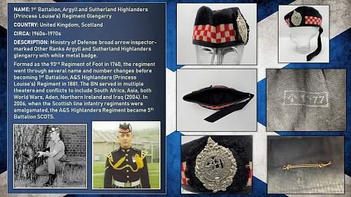 Post-WWII Scottish Unit Headgear (UK and Commonwealth)