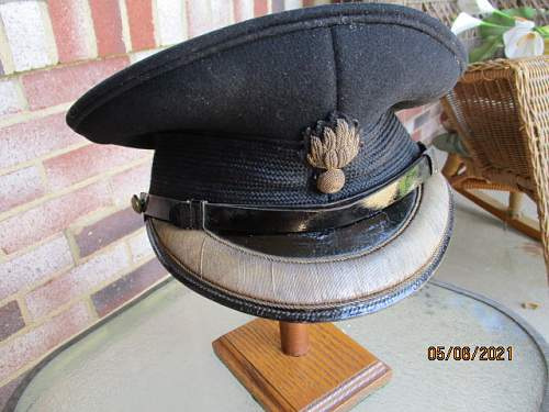 Grenadier Guards KIA Officer Visor  Cap