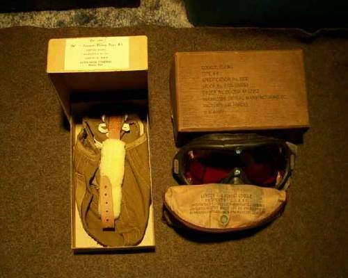 A-9 Flight Helmet/B-8  Goggles boxed