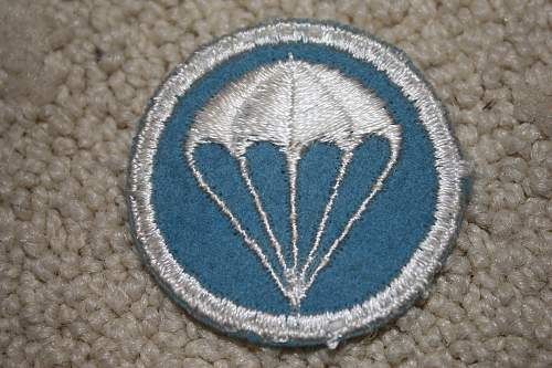 Overseas cap for enlisted Paratrooper