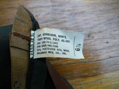 World War II Mens Army Garrison Cap question