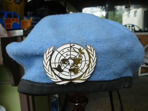 UN peace keepers beret found in socks drawer