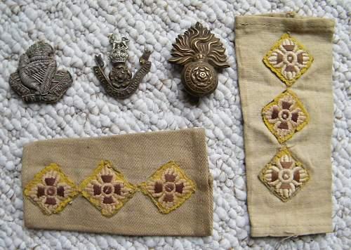 British cap badges.