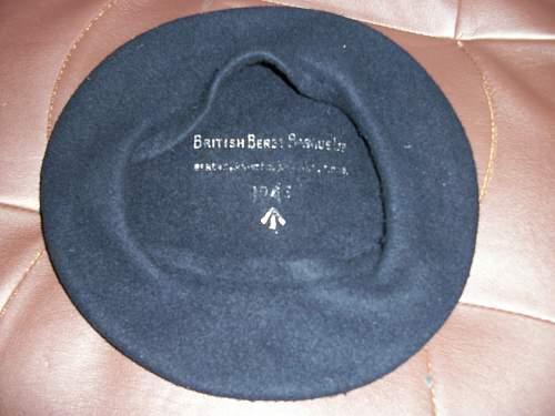 unusual dark blue beret