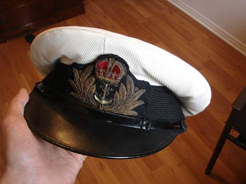 British WWII Royal Navy Visor cap